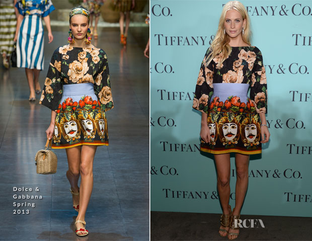 Poppy Delevingne In Dolce & Gabbana - Tiffany & Co Blue Book Ball