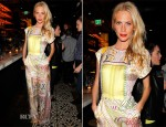 Poppy Delevingne In Mary Katrantzou - Vogue 'Triple Threats' Dinner