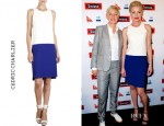 Portia de Rossi's Cédric Charlier Two Tone Dress