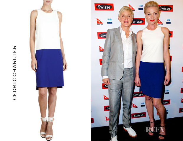 Portia de Rossi's Cédric Charlier Two Tone Dress copy