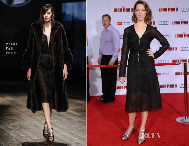 Rebecca Hall In Prada - 'Iron Man 3' LA Premiere