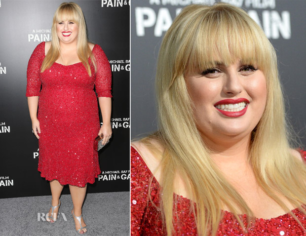 Rebel Wilson In Theia - 'Pain & Gain' LA Premiere