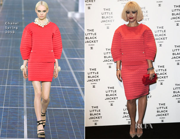 Rita Ora In Chanel - The Little Black Jacket Exhibition Dubai