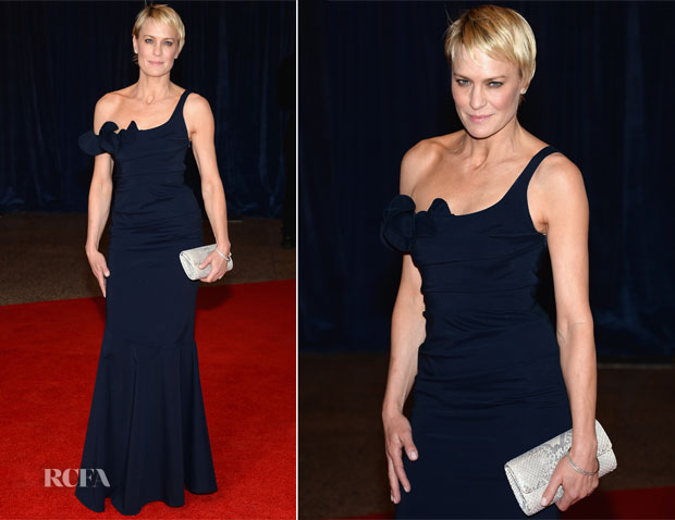 Robin Wright In Rolando Santana Atelier - 2013 White House Correspondents' Association