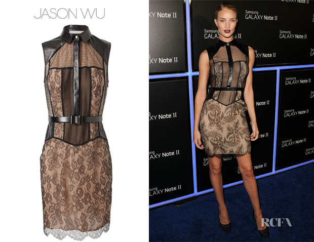 Rosie Huntington-Whiteley In Jason Wu - Samsung Galaxy Note II Beverly Hills Launch