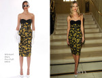 Rosie Huntington-Whiteley In Michael Kors - Michael Kors Dinner Hosted  By Vogue