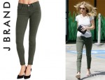 Rosie Huntington-Whiteley's J Brand 'Roz' Trapunto Stitched Pants