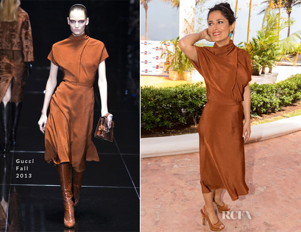 Salma Hayek In Gucci - 'Grown Ups 2' Cancun Photocall