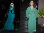 Salma Hayek In Saint Laurent - 'Les P'tits Cracks' Charity Dinner