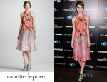 Sami Gayle's Nanette Lepore Sound Art Candy Mix-Print Halter Dress