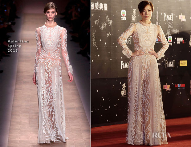 Sammi Cheng In Valentino - 2013 Hong Kong Film Awards