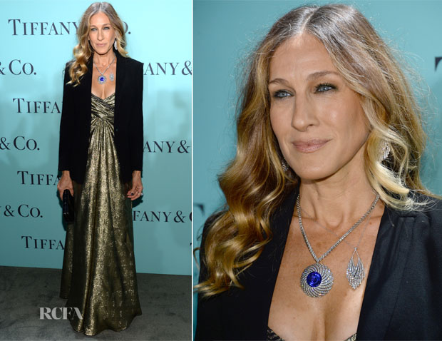 Sarah Jessica Parker In Vintage Vicky Tiel - Tiffany & Co Blue Book Ball
