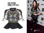 Selena Gomes' Peter Pilotto 'Carolina' Embellished Top
