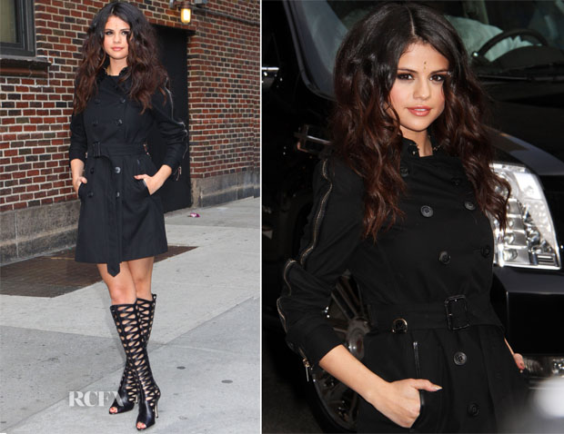 Selena Gomez In Burberry - Late Show With David Letterman