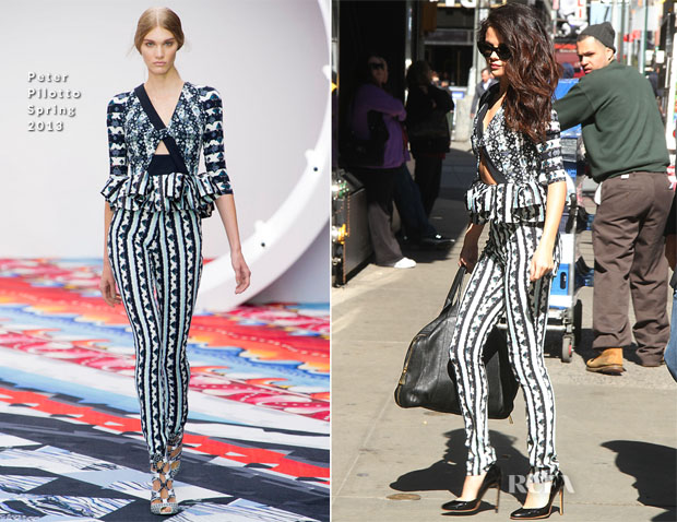 Selena Gomez In Peter Pilotto - Good Morning America