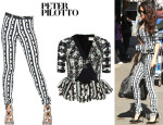 Selena Gomez' Peter Pilotto 'Lara' Top And Peter Pilotto 'Eli' Trousers