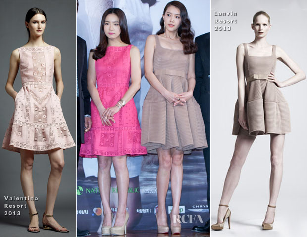 Shin Se Kyung In Valentino and Chae Jeong Ah In Lanvin - 'When A Man Is In Love' Press Conference