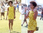 Solange Knowles In Alice + Olivia - 2013 Coachella Music Festival