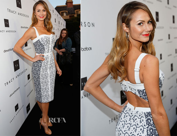 Stacy Keibler In Rebecca Minkoff - Tracy Anderson Flagship Studio Opening