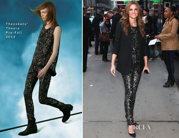 Stana Katic In Theyskens' Theory - Good Morning America