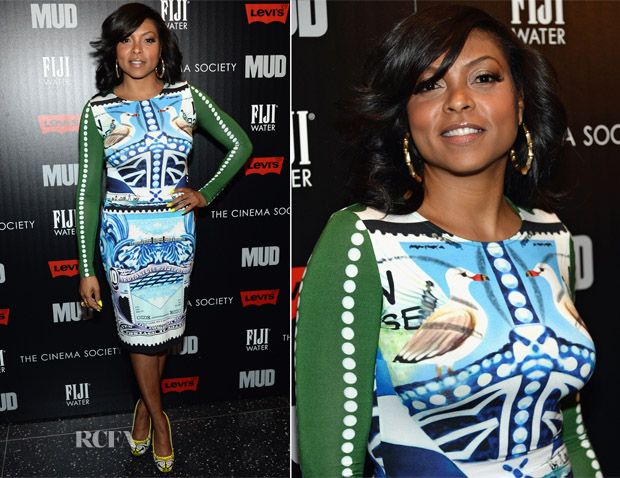 Taraji P Henson In Mary Katrantzou - 'Mud' New York Screening