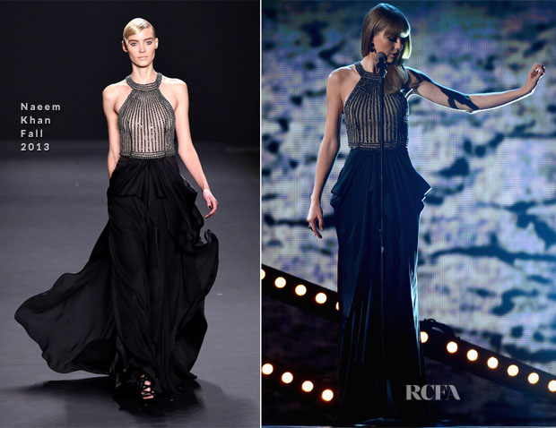 Taylor Swift In Naeem Khan - 2013 ACM Awards Performance