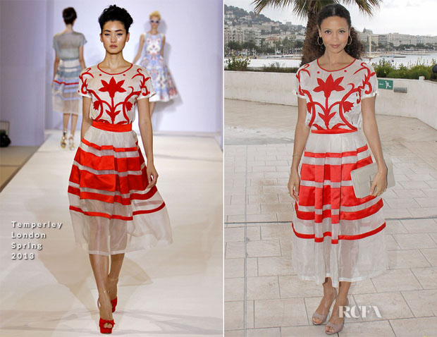 Thandie Newton In Temperley London - 'Rouge' MIPTV Market Photocall