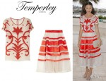 Thandie Newton's Temperley London 'Francine' Top And Temperley London 'Freya' Skirt