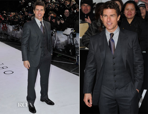 Tom Cruise In Girogio Armani - 'Oblivion' London Premiere