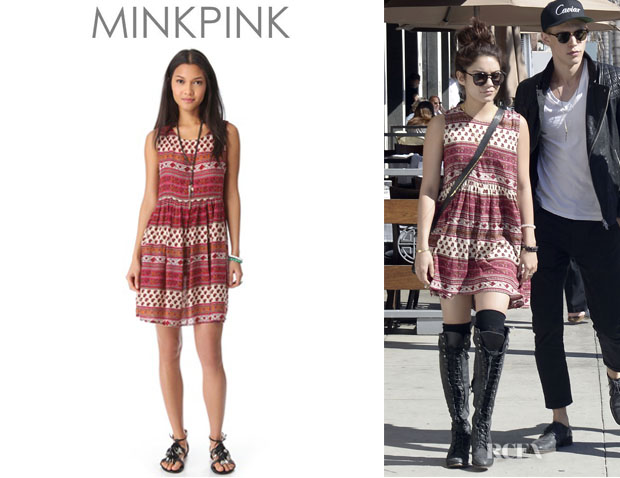 Vanessa Hudgens' Mink Pink 'Maya' Mini Dress