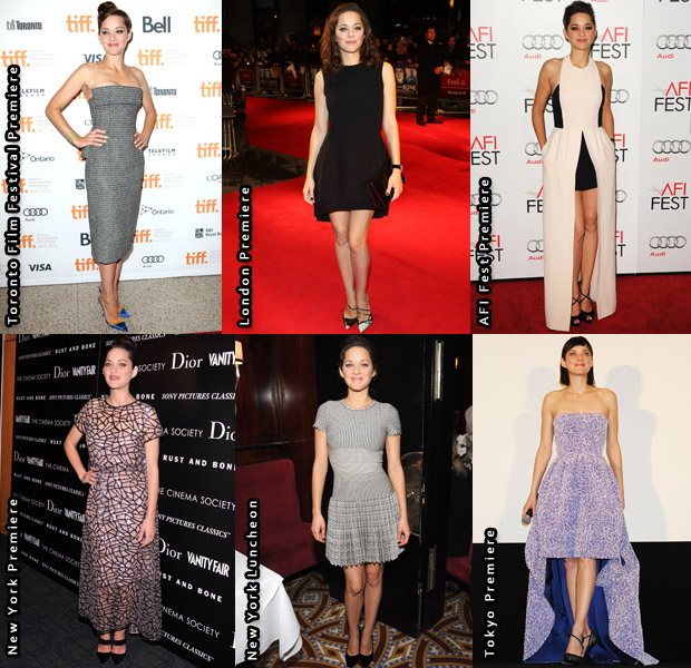 Which Was Your Favourite Marion Cotillard Look From The 'Rust and Bone' Promo Tour