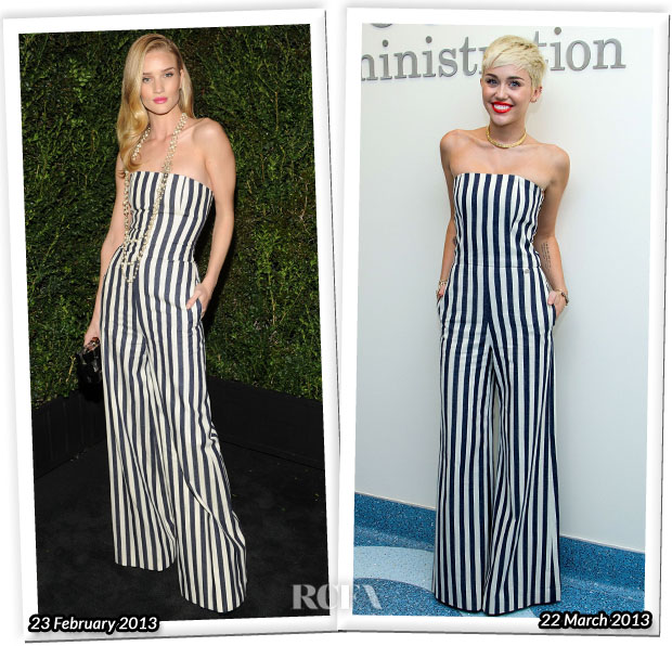 Who Wore Chanel Better Rosie Huntington-Whiteley or Miley Cyrus