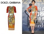 Zhang Zilin's Dolce & Gabbana Printed Crepe Dress