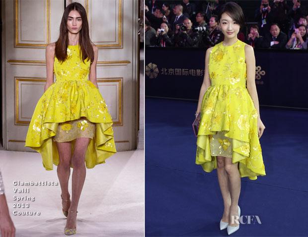 Zhou Dong Yu In Giambattista Valli Couture - 3rd Beijing International Film Festival