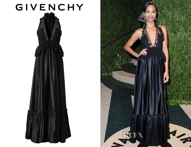 Zoe Saldana's Givenchy Lace and Satin Gown