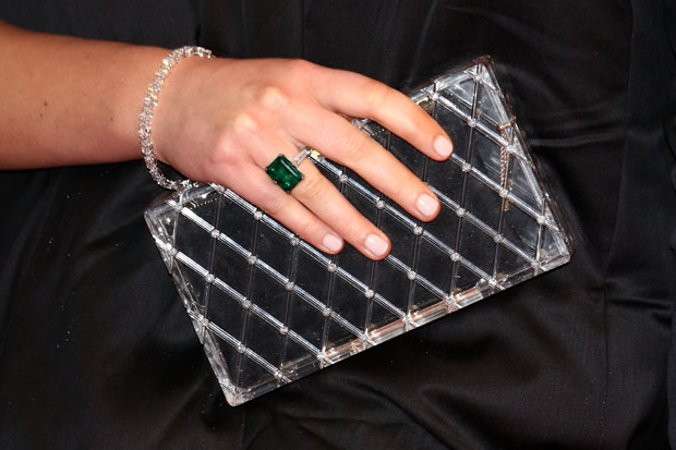 Jennifer Lawrence's Chopard jewels and Charlotte Olympia clutch