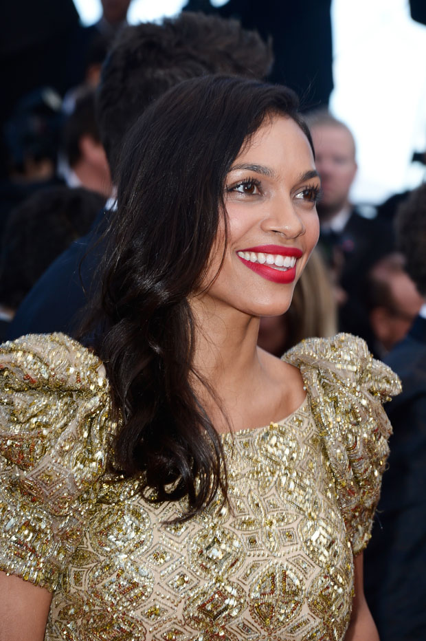 Rosario Dawson in Marchesa