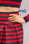Nieves Alvarez' YSL 'Arty' flower ring