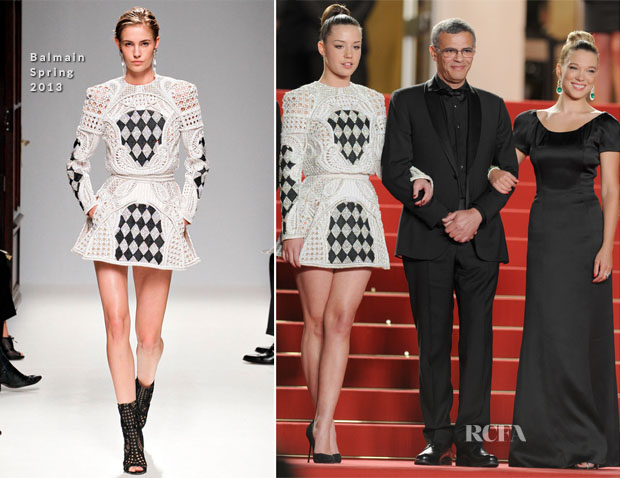 Adele Exarchopoulos In Balmain & Lea Seydoux In Armani - 'La Vie D'Adele' Cannes Film Festival Premiere