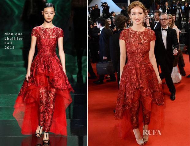 Ahna O'Reilly In Monique Lhuillier - 'As I Lay Dying' Cannes Film Festival Premiere