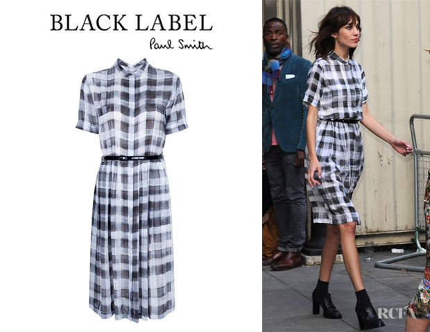 Alexa Chung's Paul Smith Black Label Checked Dress