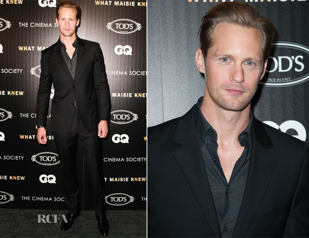Alexander Skarsgard In Calvin Klein - 'What Maisie Knew' New York Screening