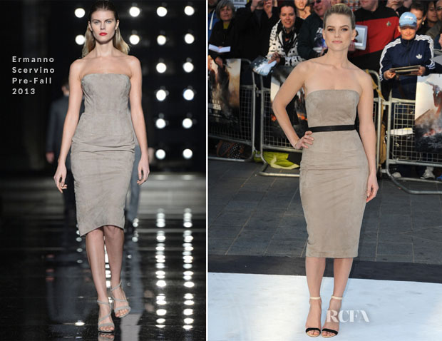 Alice Eve In Ermanno Scervino - 'Star Trek Into Darkness' London Premiere