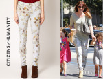 Alyson Hannigan's Citizens of Humanity Avedon Rose Print Jeans
