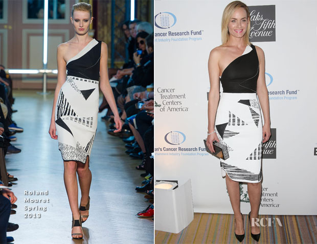 Amber Valletta In Roland Mouret - 'An Unforgettable Evening' benefiting EIF's Women's Cancer Research Fund