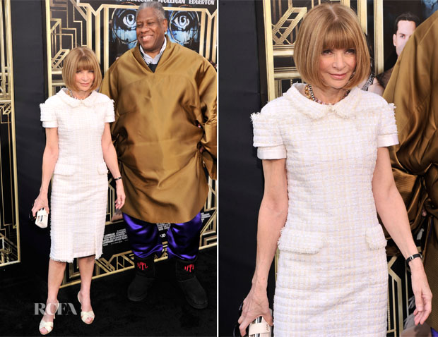 Anna Wintour In Chanel Couture - 'The Great Gatsby' World Premiere