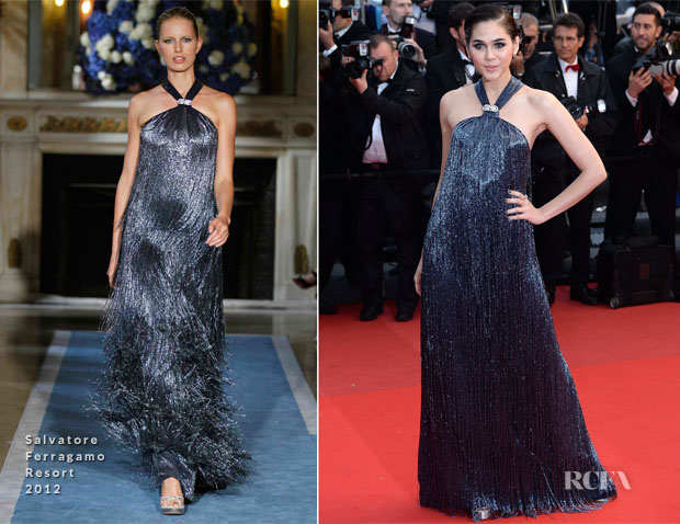 Araya A Hargate In Salvatore Ferragamo - 'All Is Lost' Cannes Film Festival Premiere