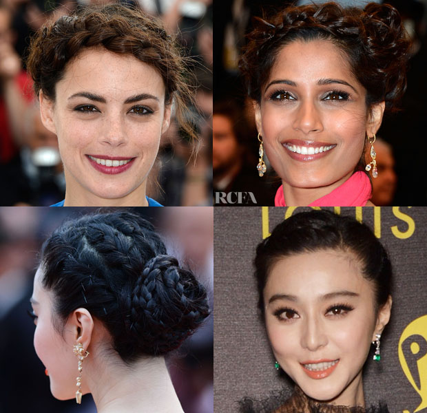Beautiful Braided Updos at Cannes