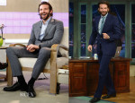 Bradley Cooper In Ermenegildo Zegna & Vivienne Westwood MAN - The Today Show & The Late Show with Jimmy Fallon