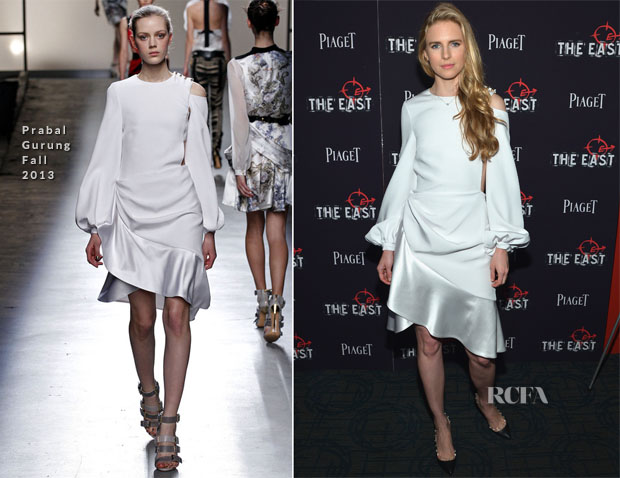 Brit Marling In Prabal Gurung - 'The East' New York Premiere